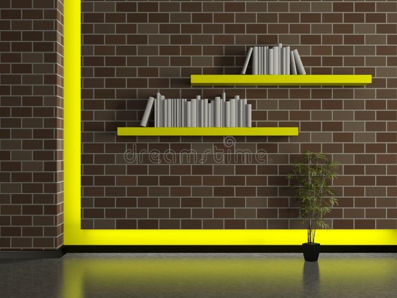 Interno moderno della casa muro di mattoni con gli for Planimetrie della casa di mattoni
