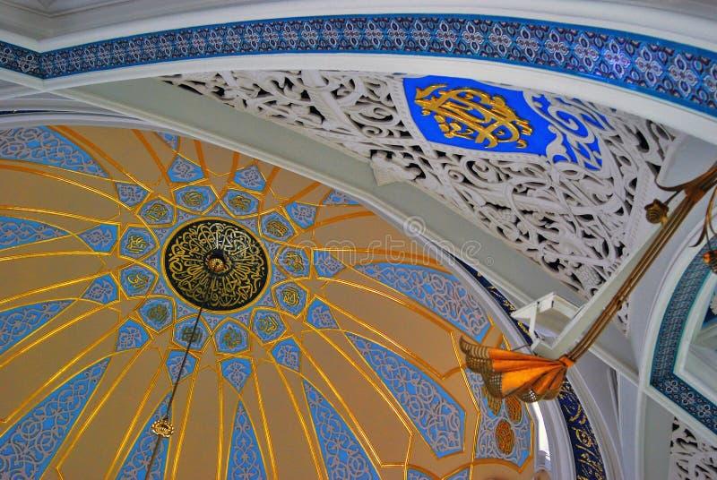 Interno nel Cremlino di Kazan, Russia della moschea di Kul Sharif fotografie stock