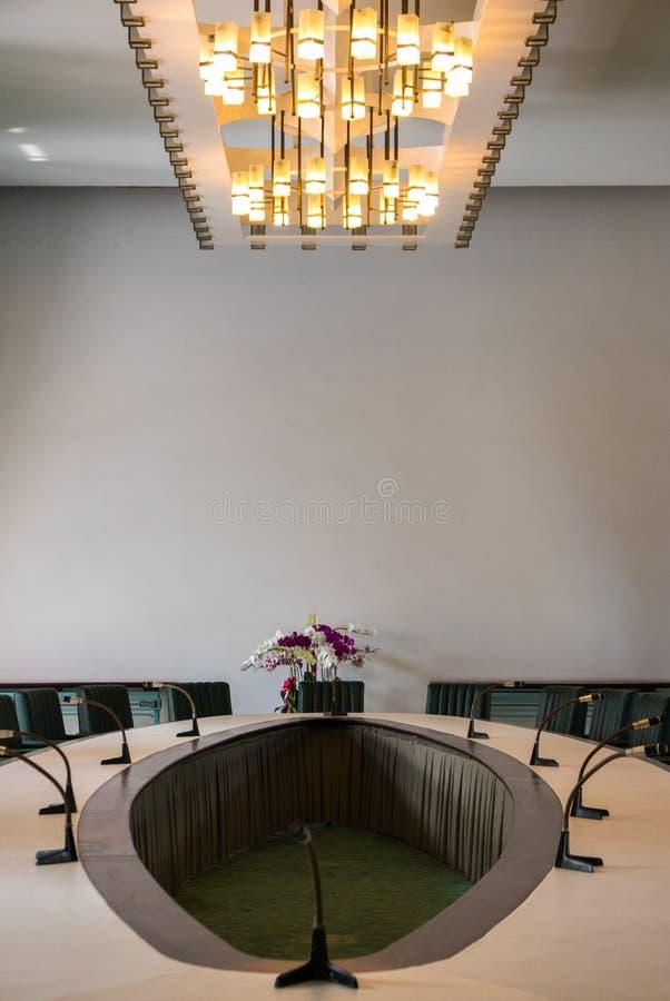 Interno o il palazzo di indipendenza in Ho Chi Minh City, Vietnam immagini stock
