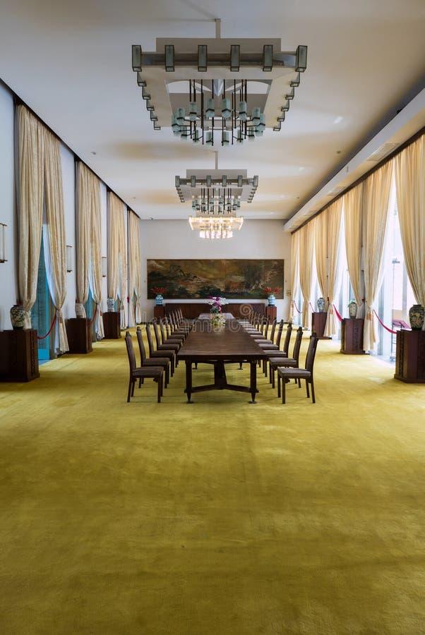Interno o il palazzo di indipendenza in Ho Chi Minh City, Vietnam fotografia stock