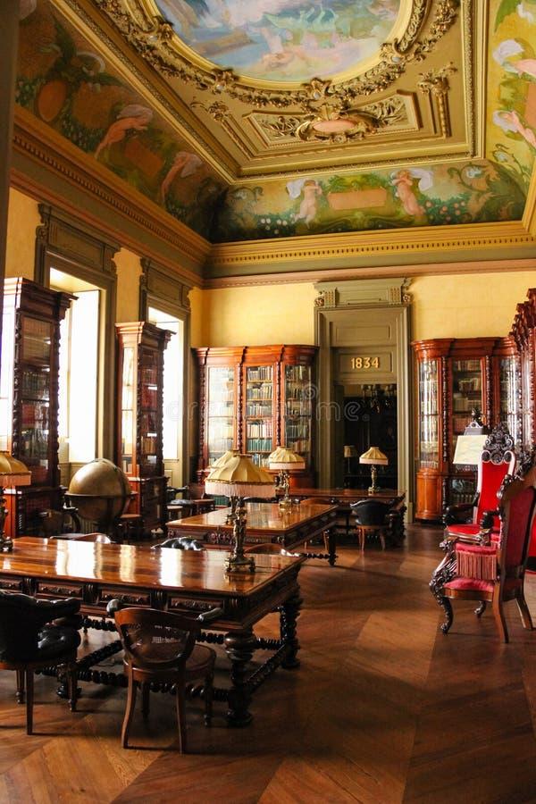Interno. Palazzo di borsa valori. Oporto. Il Portogallo immagine stock