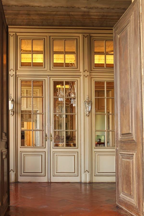Interno. Palazzo nazionale. Queluz. Il Portogallo immagine stock