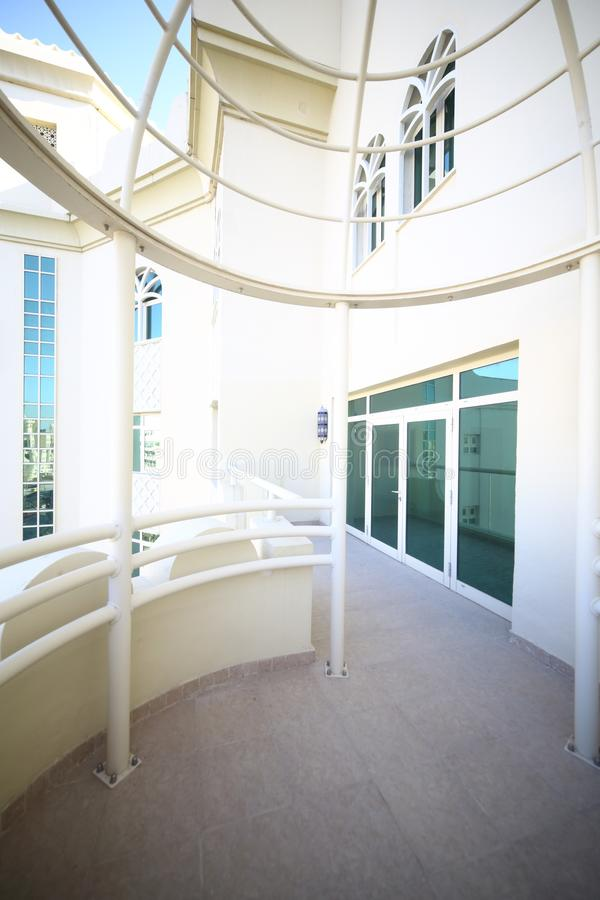 Interno piacevole del balcone moderno immagini stock libere da diritti