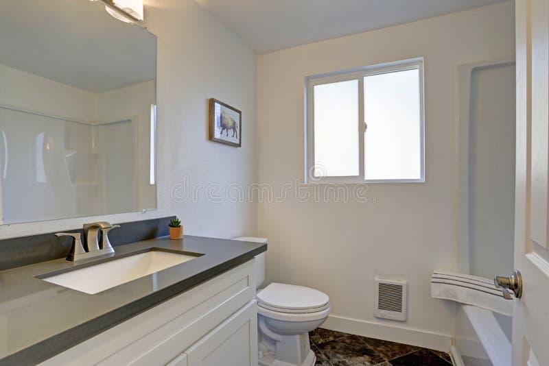 Interno pulito bianco del bagno immagine stock