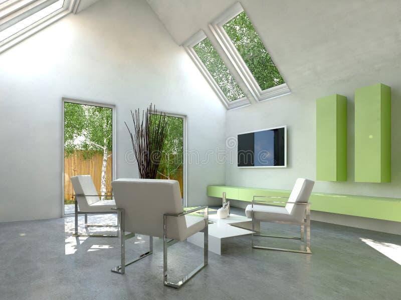 Piccolo tavolo da pranzo moderno con il muro di mattoni for Sedie salone moderne