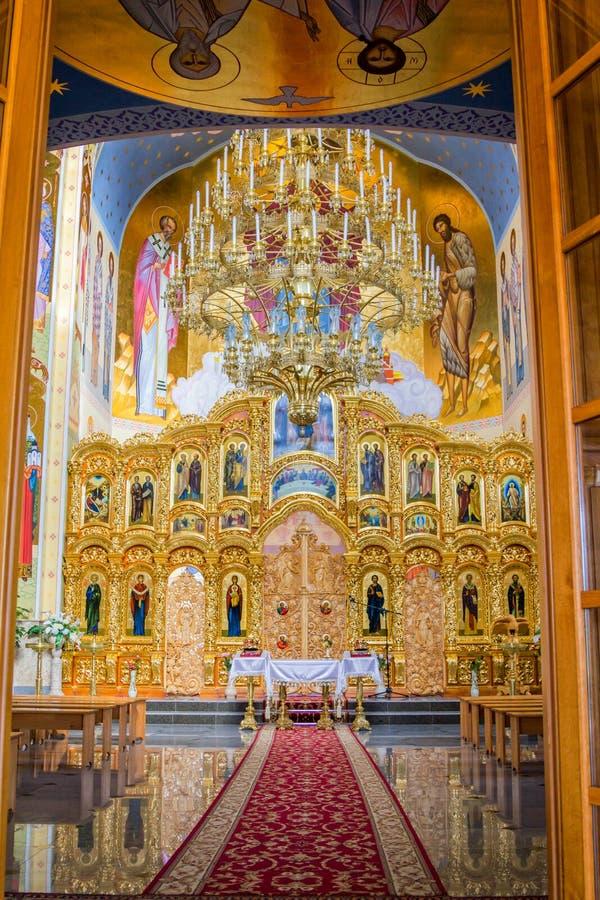Interno splendido della st ortodossa Nicholas Church immagini stock libere da diritti