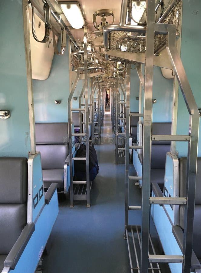 Interno in treno fotografia stock