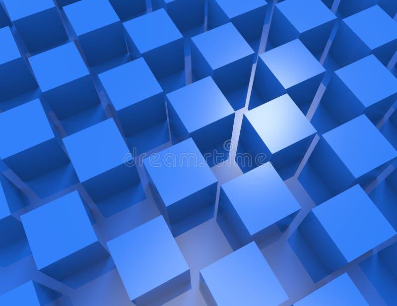 Interno vuoto astratto di bianco 3d con i cubi royalty illustrazione gratis