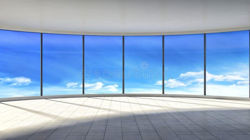 Download Interno Vuoto Bianco Con La Grande Finestra Illustrazione 3D Illustrazione di Stock - Illustrazione di dell, comodità: 55355794