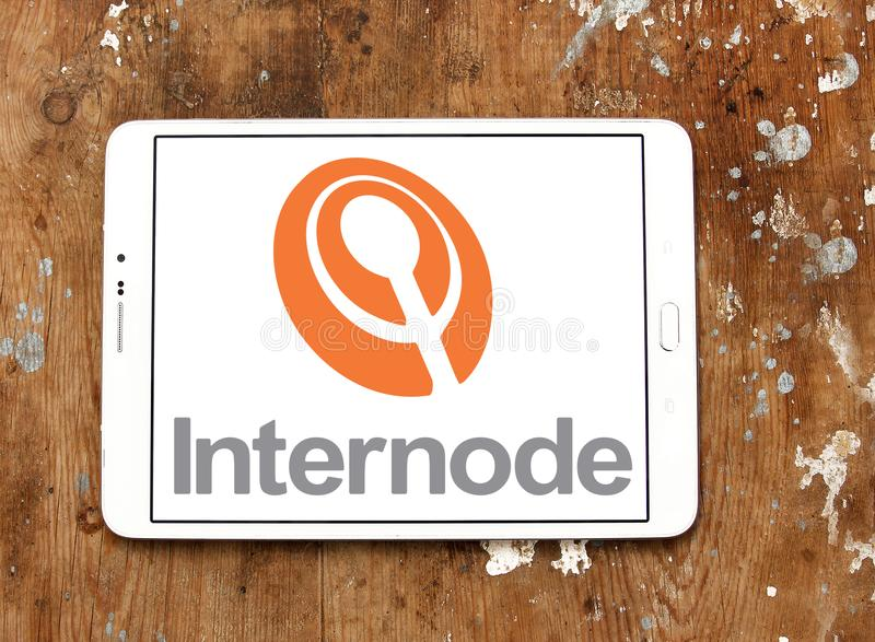 Internode company logo. Internode Pty Ltd is an Australian Internet service provider ISP that provides ADSL and NBN broadband Internet access, business-class stock images