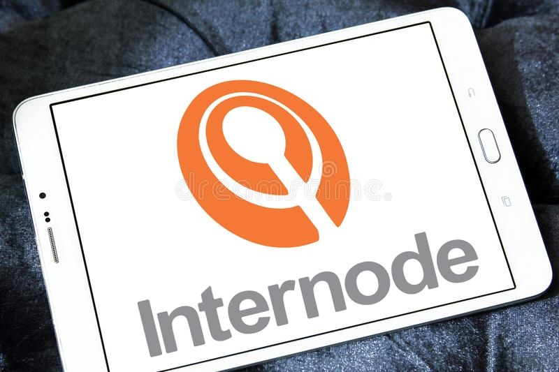 Internode company logo. Internode Pty Ltd is an Australian Internet service provider ISP that provides ADSL and NBN broadband Internet access, business-class royalty free stock photo