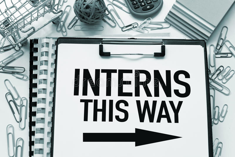 Interns wanted royalty free stock photo