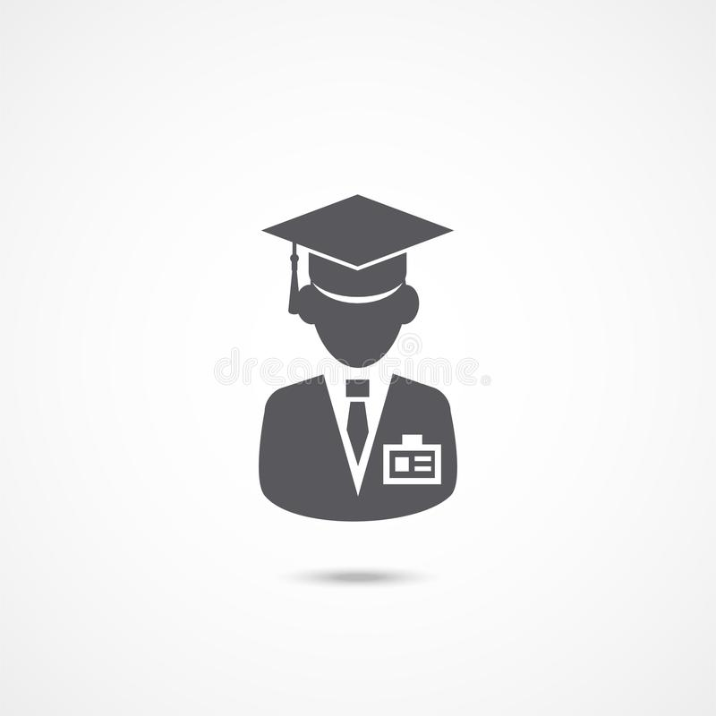 Intership icon on white stock illustration