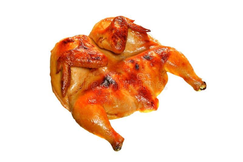 Intero pollo arrostito immagine stock libera da diritti