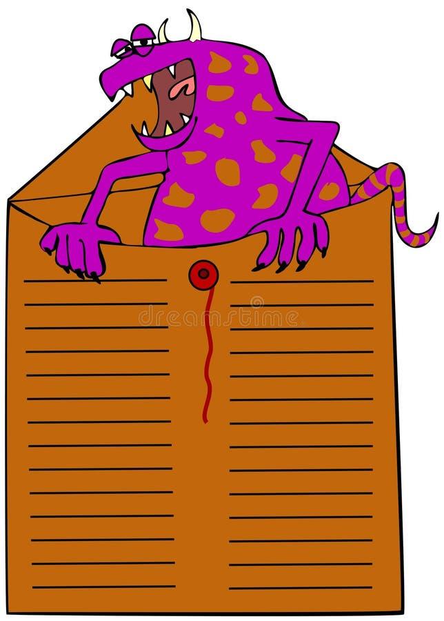 Download Interoffice monster stock illustration. Illustration of office - 25777410