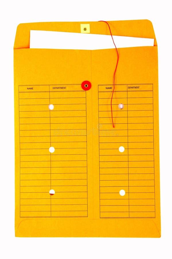 interoffice yellow för kuvert royaltyfri bild