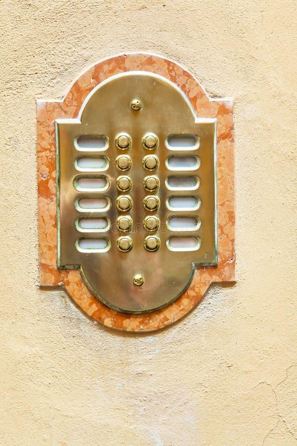Interphone de trappe d'entrée image stock