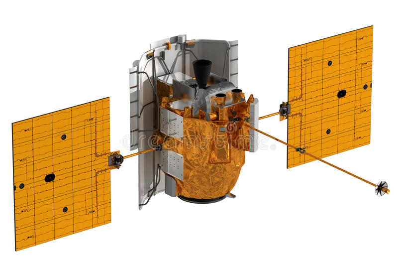 Interplanetair Ruimtestation vector illustratie