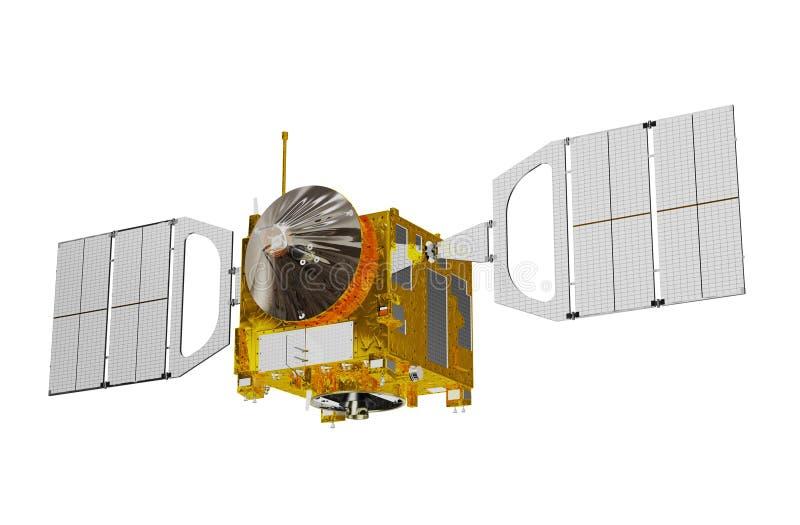 Interplanetair Ruimtestation dat op Witte Achtergrond wordt ge?soleerd vector illustratie