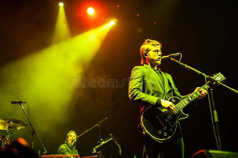 Interpol-Konzert stockfotos