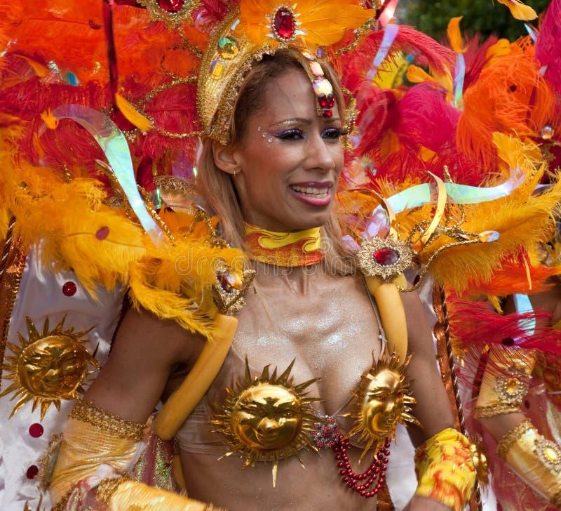 Interprète dans le carnaval 2009 de Notting Hill photographie stock