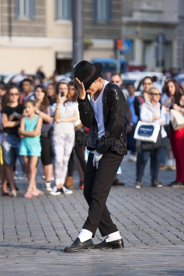 Interprète de Michael Jackson Billie Jean images stock