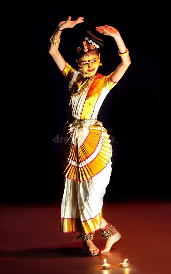 Interprète de Mohiniyattam (danse de l'enchanteresse) images libres de droits