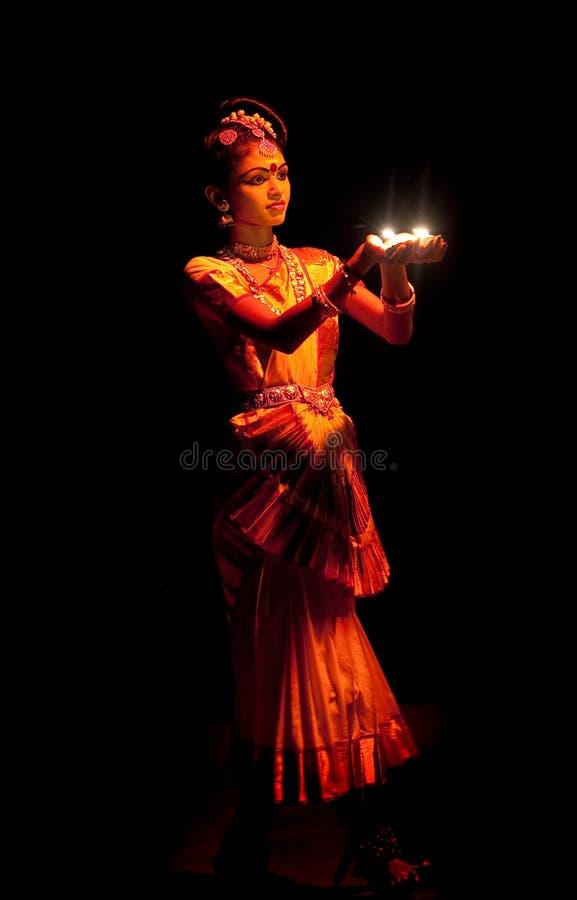 Interprète de Mohinyattam (danse de l'enchanteresse) images stock
