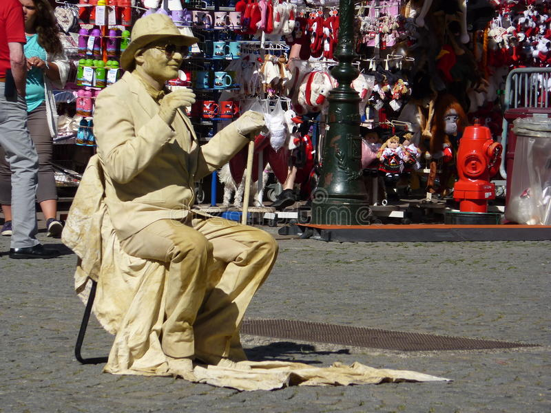 Interprète de pantomime de rue photos stock