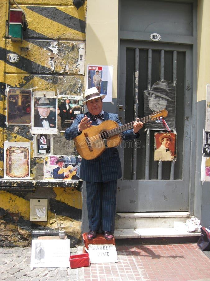 Interprète de rue en Argentine photos stock