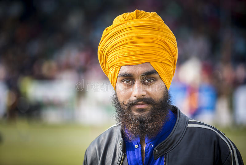 Interprète sikh d'art martial photo libre de droits