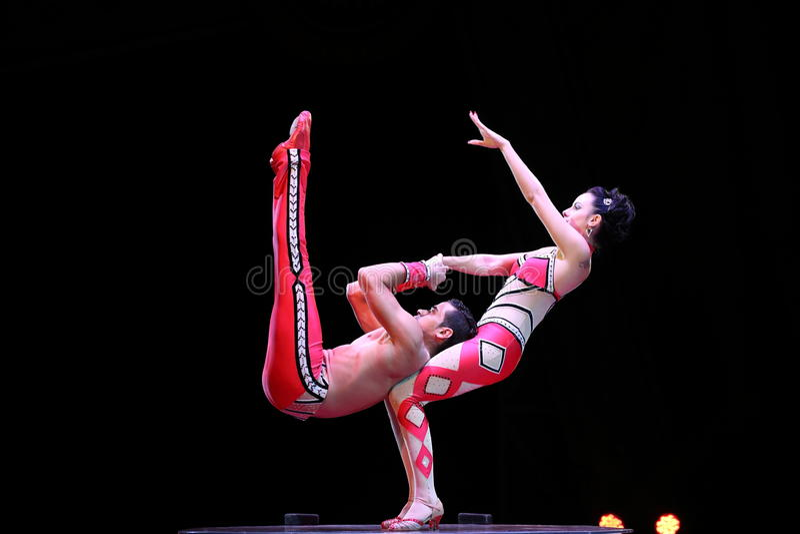Interprètes de cirque photo libre de droits