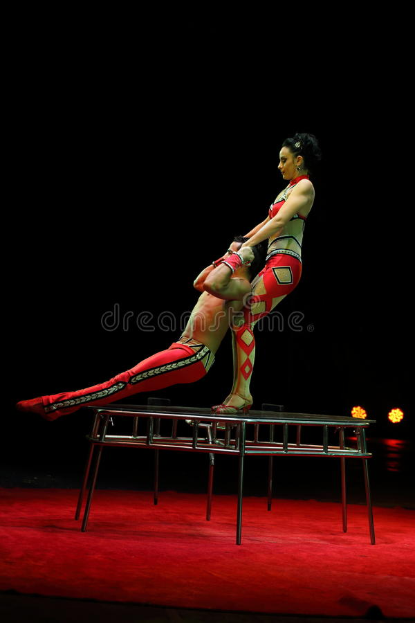 Interprètes de cirque photos libres de droits