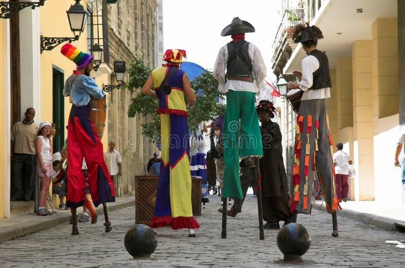 Interprètes de rue de La Havane photographie stock libre de droits