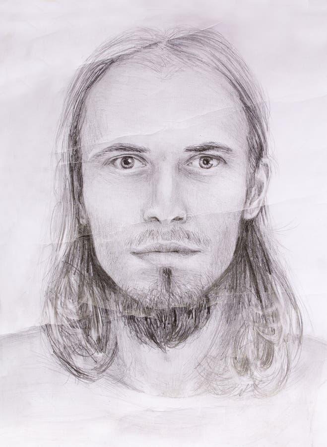 Interpretação do retrato de jesus christ como o homem novo ilustração royalty free