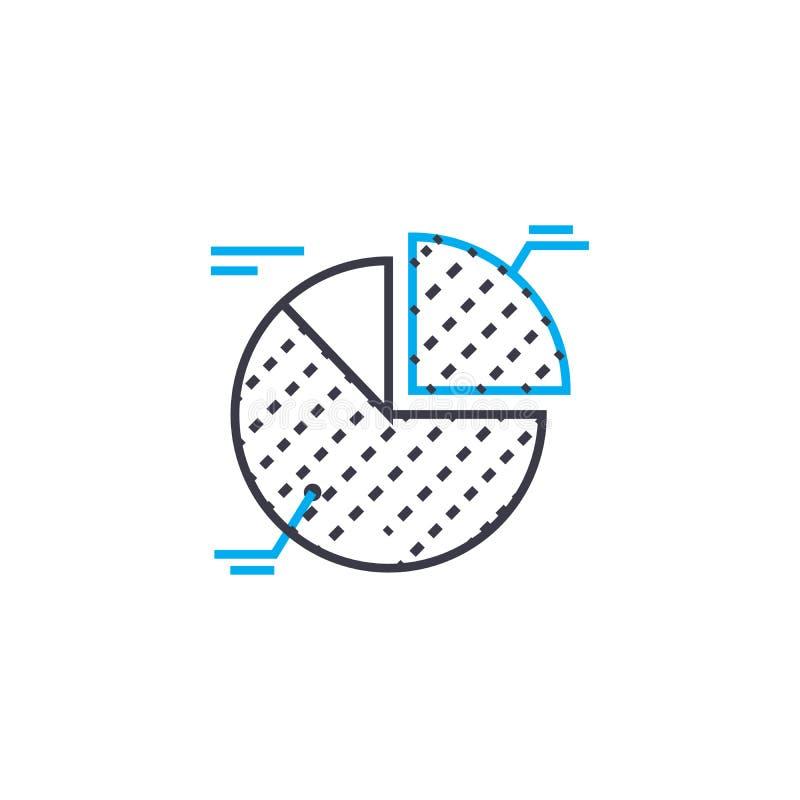 A interpretação dos elementos vector a linha fina ícone do curso A interpretação dos elementos esboça a ilustração, sinal linear ilustração do vetor