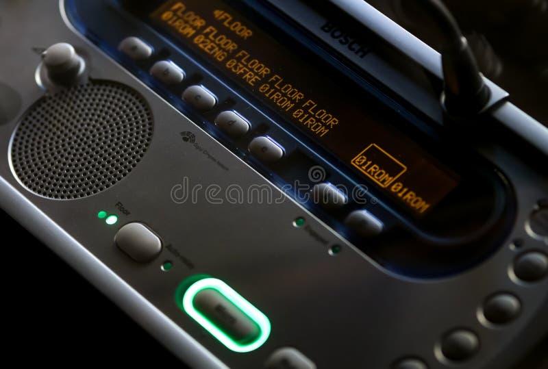 Interpreter Desk audio equipment. Bucharest, Romania - October 23, 2018: A Bosch DCN‑IDESK Interpreter Desk audio equipment used by translators during stock photography