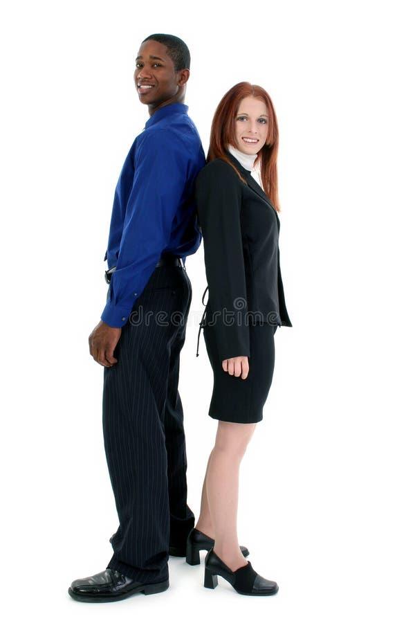 Interracial BedrijfsPaar royalty-vrije stock foto's