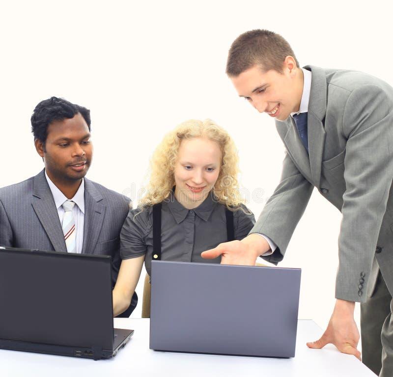 Interracial commercieel team royalty-vrije stock afbeelding