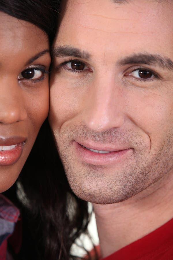 Interracial couple stock image
