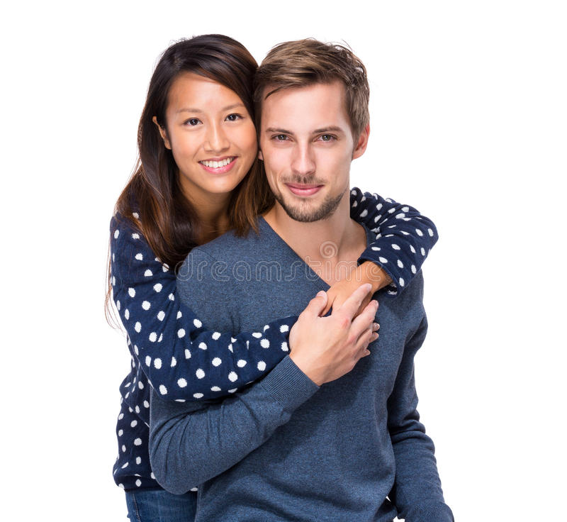 Interracial couple stock images