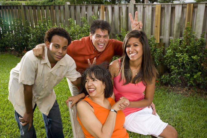 Interracial familie royalty-vrije stock foto's