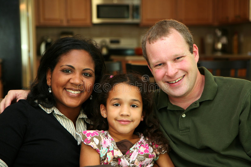Interracial Familie stock fotografie
