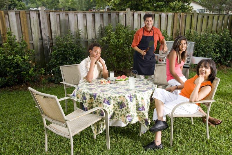 Interracial family royalty free stock image