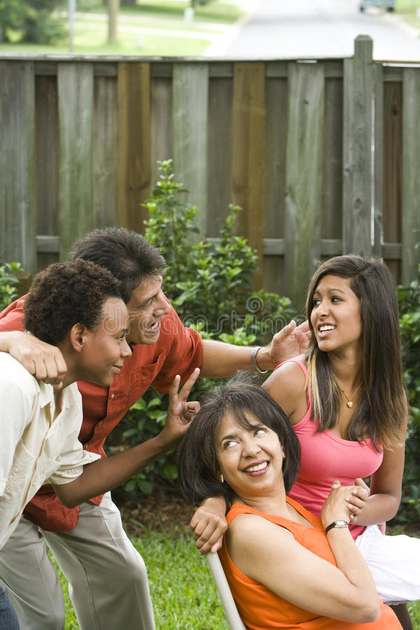 Download Interracial family stock photo. Image of parents, hispanic - 10545232