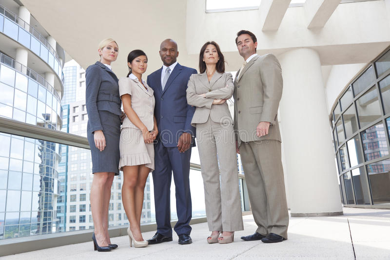 Interracial Men & Women Business Team royalty free stock images