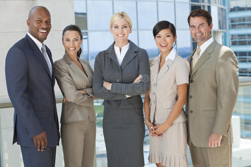 Download Interracial Men & Women Business Team Stock Image - Image: 20955969