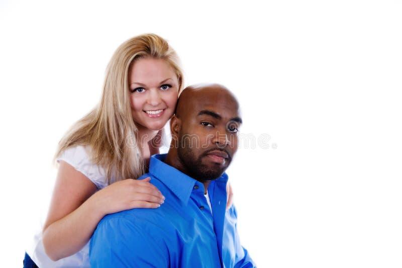 interracial par royaltyfria foton