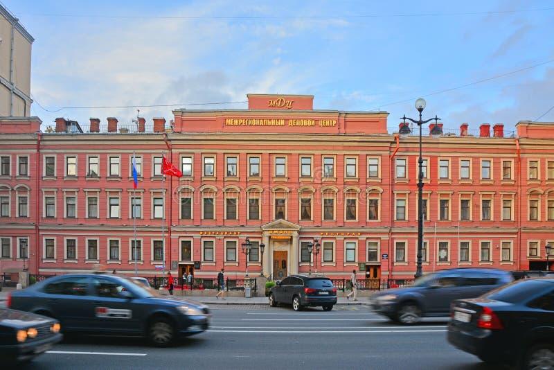 Interregional centrum biznesu na Nevsky alei w świętym Petersburg, Rosja zdjęcie stock