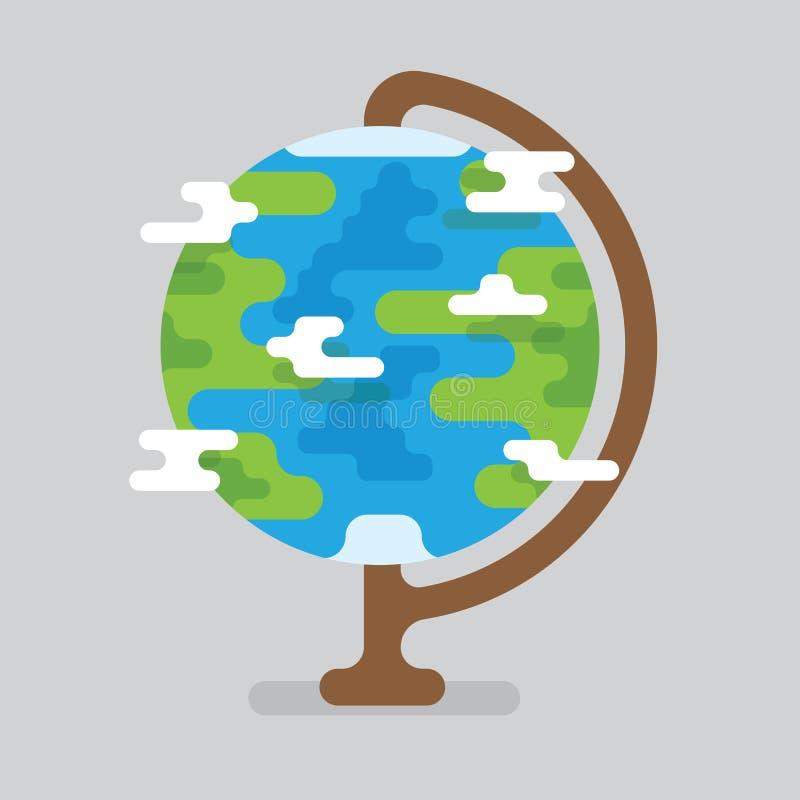 Interri il globo con l'illustrazione di vettore dei continenti e dei paesi Terra geografica del globo isolata su fondo leggero royalty illustrazione gratis